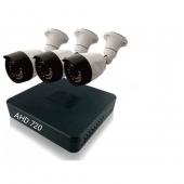 Комплект 3 уличные камеры и регистратор